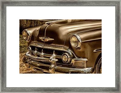53 Chevy Framed Print by Tricia Marchlik