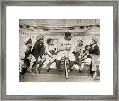 George H. Ruth (1895-1948) Framed Print