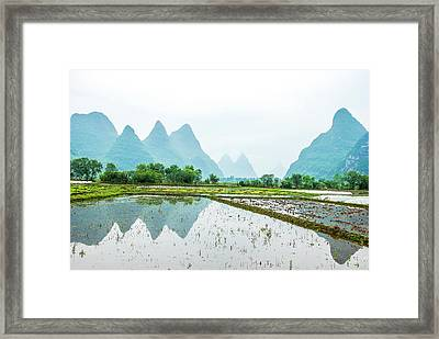 Karst Rural Scenery In Spring Framed Print