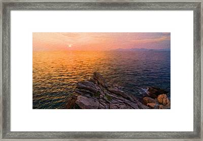 Romantic Landscape Framed Print