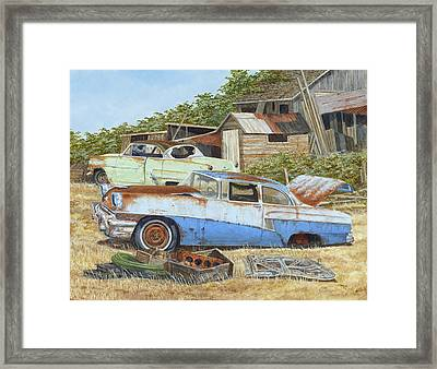 '53 Vicky And '56 Custom Framed Print by Scott Lang