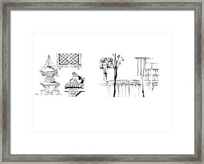 5.3.japan-1-details-roof-and-fence Framed Print