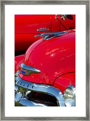 54 Chevrolet Hood Framed Print
