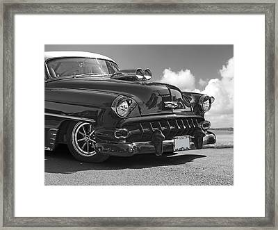'54 Chevy In Black And White Framed Print