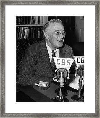 President Franklin D. Roosevelt Framed Print by Everett