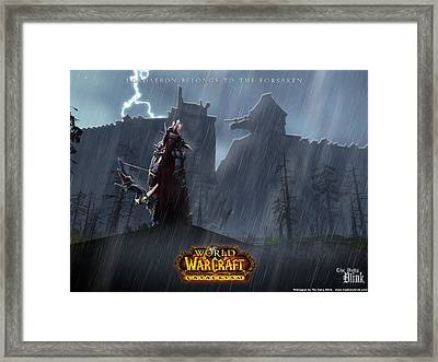 54219 World Of Warcraft Framed Print by F S