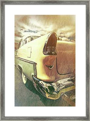 55 Bel Air Taillight Framed Print by Mike Burgquist