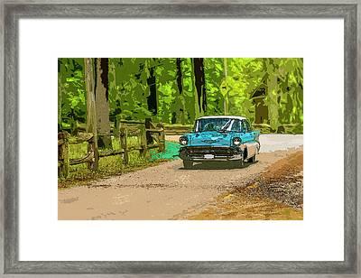 55 Chev Framed Print by Irwin Seidman