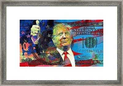 Donald Trump 2016 Presidential Candidate Framed Print by Elena Kosvincheva