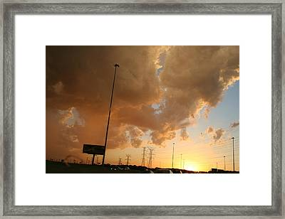 55 Sunset Framed Print by Gregory Jeffries
