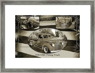 5514.05 1946 Gmc Pickup Truck Framed Print by M K  Miller