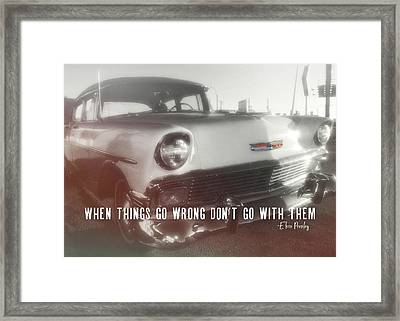 56 Belair In Memphis Quote Framed Print by JAMART Photography