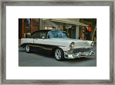 Framed Print featuring the photograph '56 Chevy Hot Rod by Victor Montgomery