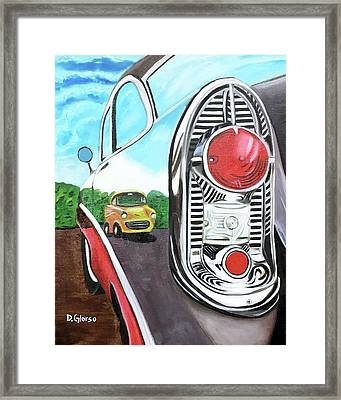 56 Chevy Reflections Framed Print