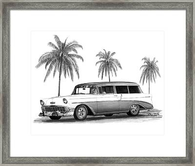 56 Chevy Wagon Framed Print