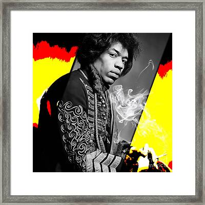 Jimi Hendrix Collection Framed Print by Marvin Blaine