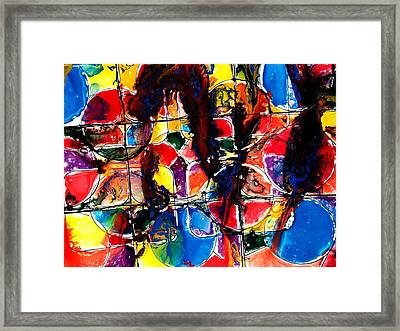 Jugglery Of Colors Framed Print by Baljit Chadha