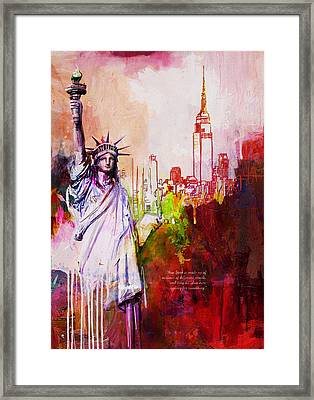 56 Ny Skyline Framed Print by Maryam Mughal