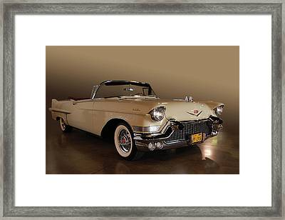 57 Caddy Convertible Framed Print by Bill Dutting