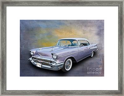 57 Chev Classic Car Framed Print