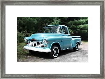57 Chevy Framed Print by Anne Babineau