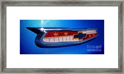 57 Chevy Bel Air Badge  Framed Print by Olivier Le Queinec