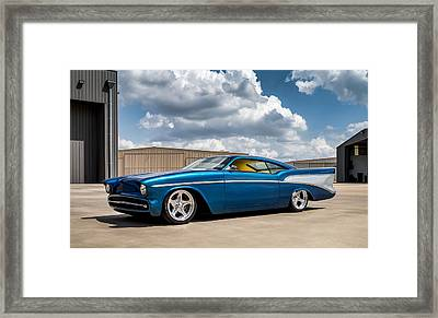 Framed Print featuring the digital art '57 Chevy Custom by Douglas Pittman