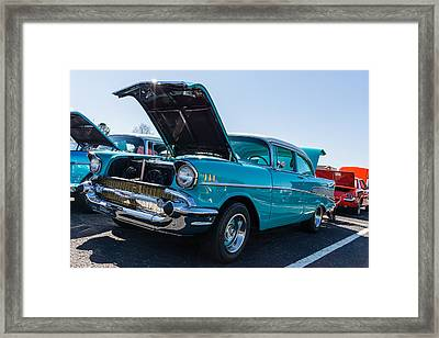 Framed Print featuring the photograph 57 Chevy - Ehhs Car Show by Michael Sussman