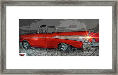 57 Chevy Heading For Route 66  Framed Print by Al Bourassa
