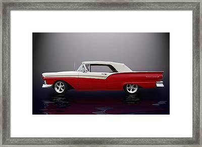 57 Fairlane 500  Framed Print by Bill Dutting