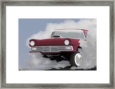 57 Ford Gasser Framed Print by Colin Tresadern