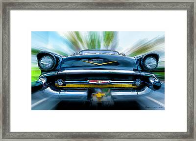57' In Yo Face Framed Print by Marvin Spates