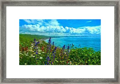 Landscape Lighting Framed Print