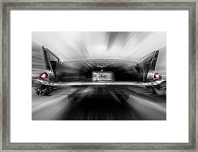 57' Taillights Framed Print