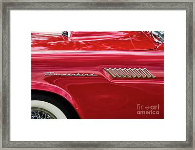 Framed Print featuring the photograph 57 Thunderbird Abstract by Tim Gainey