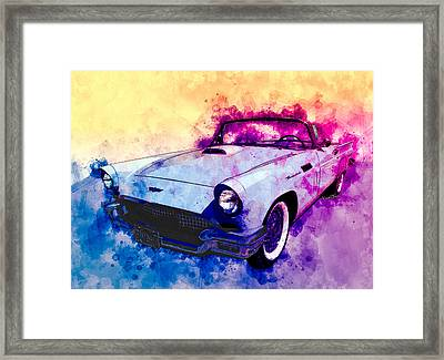 57 Thunderbird Watercolour Framed Print