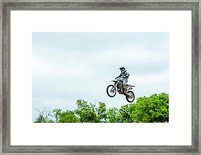 Framed Print featuring the photograph 573 Flying High At White Knuckle Ranch by David Morefield