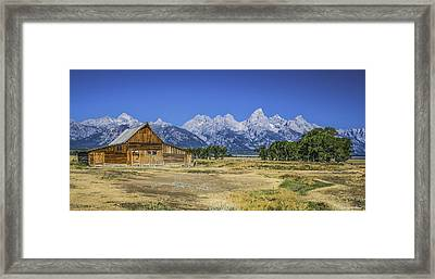 #5730 - Mormon Row, Wyoming Framed Print