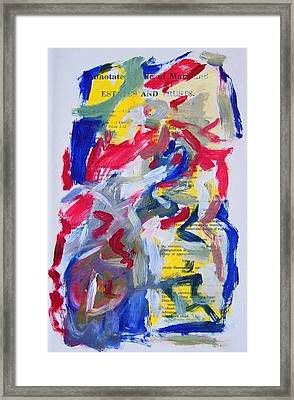 Abstract On Paper No. 26 Framed Print by Michael Henderson