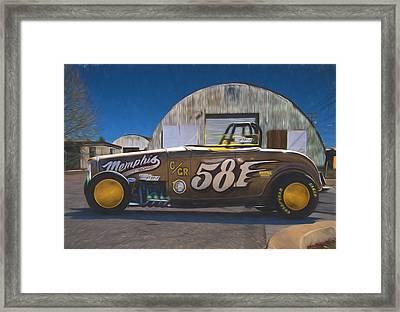 Bonneville Racer Painterly Expressions Framed Print