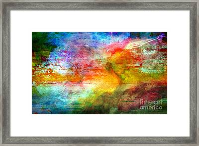 5a Abstract Expressionism Digital Painting Framed Print