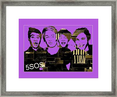 5sos Collection Framed Print