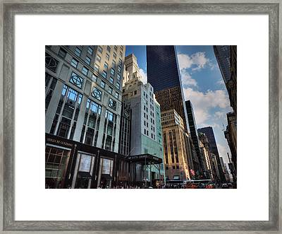 5th Ave. At Central Park South 002 Framed Print