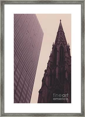 5th Avenue Nyc Old And New Framed Print