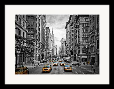 Manhattan Street Framed Prints