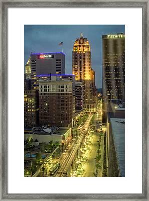 5th Street Cincinnati Framed Print by Scott Meyer