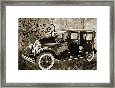 1924 Buick Duchess Antique Vintage Photograph Fine Art Prints 105 Framed Print by M K  Miller
