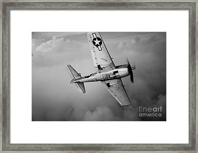 A Grumman F6f Hellcat Fighter Plane Framed Print