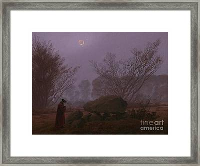 A Walk At Dusk Framed Print