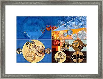 Abstract Painting - Lapis Lazuli Framed Print by Vitaliy Gladkiy